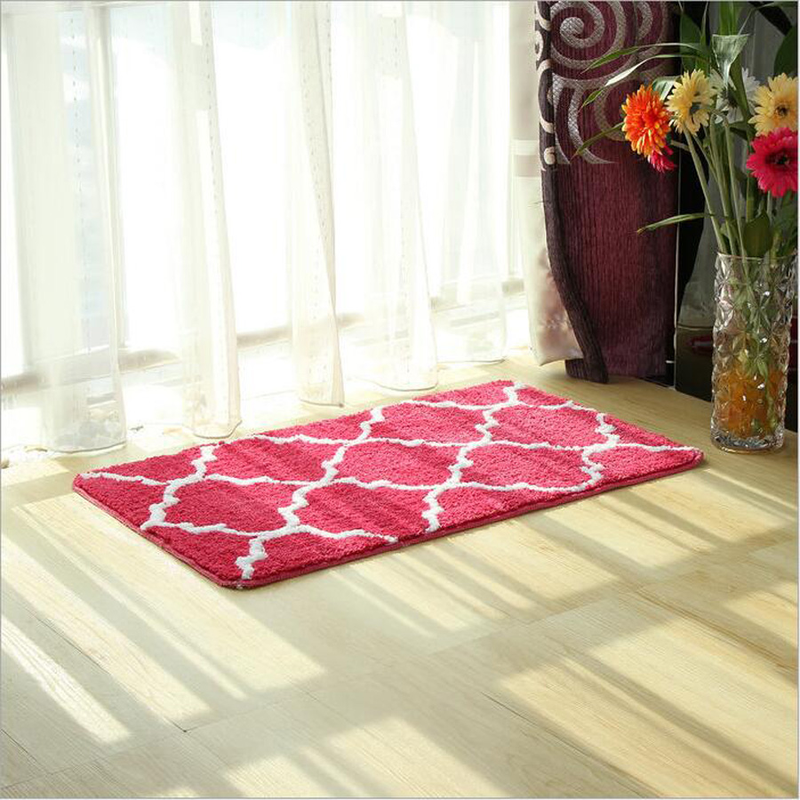 Bathroom carpet 45*5CM/50*80CM toilet mat microtec foam geometric print slide-proof rug mat free shipping ...