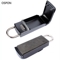 OSPON Key Safe Box 4 Digital Password Padlock Keys Storage Organizer Box Hook Security Equipment For