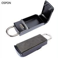 OSPON Key Safe Box 4 Digital Password Padlock Keys Storage Organizer Box Hook Security Equipment For