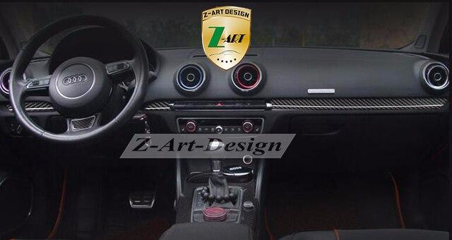 Free DHL Carbon Fiber Interiors 7pcs A3 Decoration Parts Control Panels For Audi  A3 Interior Mouldings