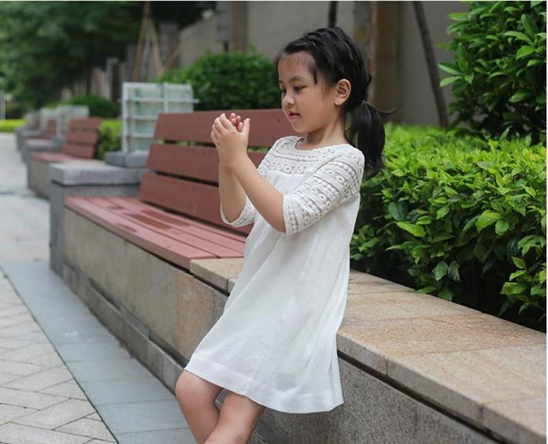 Dziewczęce oddychające koronkowe sukienki Letnie sukienki - Ubrania dziecięce - Zdjęcie 3