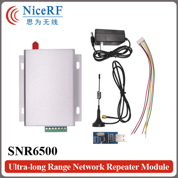 2 sets SNR6500 433 МГц TTL Интерфейс 5 Вт Высокой Мощности Беспроводной Приемопередатчик и 8 км Ультра-большой Дальности сетевой Модуль