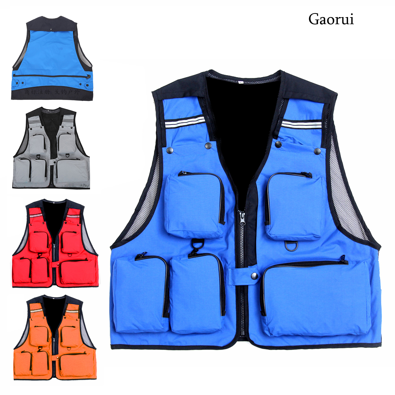 Multifunction Fishing Vest With Pockets Outdoor Sports High Quality Fishing Vest Backpack Fly Fish Accessory high quality mesh safety vest with pockets for women man