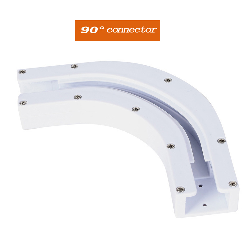 High Quality Dooya Sunflower 90 /135 Degree U Type And L Type Window Electric Curtain Rail Joint Console Connection