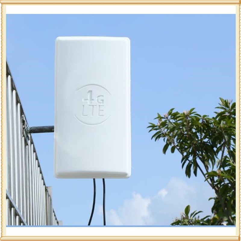 4G LTE MIMOoutdoor Antenna 2*24dBi LTE Dual Polarization Panel Antenna Double SMA -Male Connector 10M Cable For Huawei Router