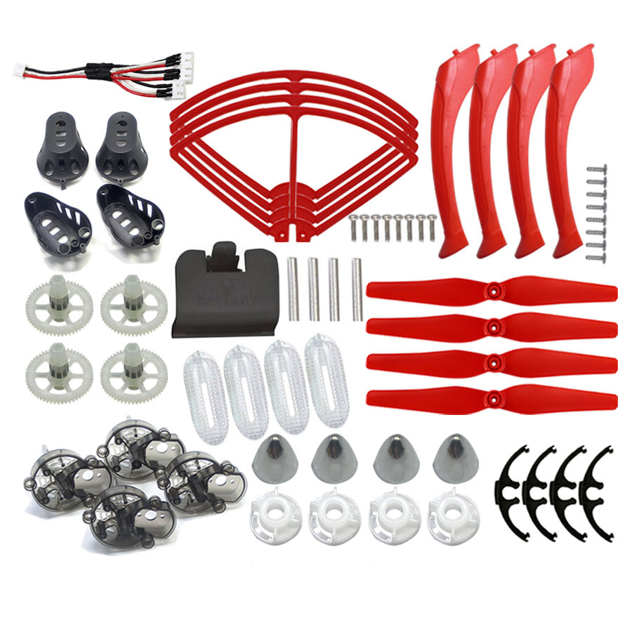 6 color Original Syma X8W X8C X8G X8HC X8HW X8HG Replace Accessories RC Drone Propeller + Protective frame + Quadcopter Parts propeller protective guard landing skid for x8c x8w x8g x8hg white