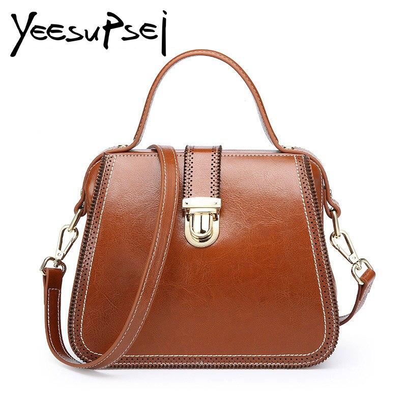 YeeSupSei Fashion High Quality Shoulder Bags Women Messenger Bag Ladies Handbags Vintage Classic Doctor Bag Designer Handle Bag