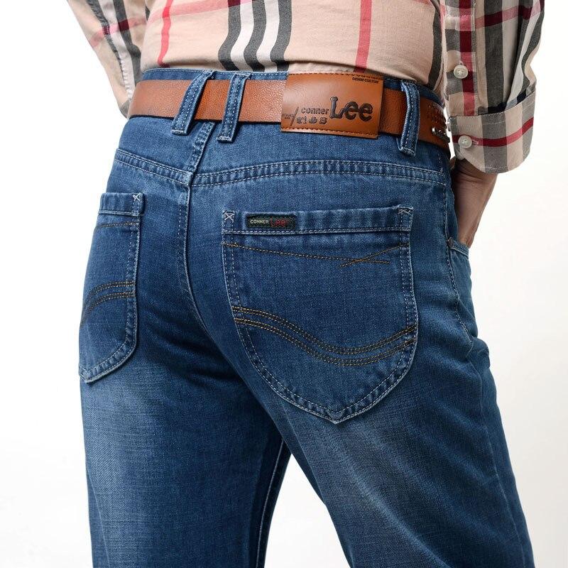 ФОТО New brand MEN jeans men back pocket stripe high quality pants jeans male Casual straight jeans Denim cotton Skinny jean men 8838
