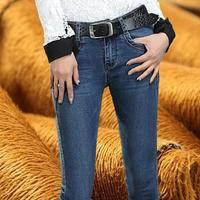 Zima Ciepły gruby velvet skinny jeans Spodnie dla kobiet Niebieski Pantalon Femme demin spodnie Skinny spodnie damskie