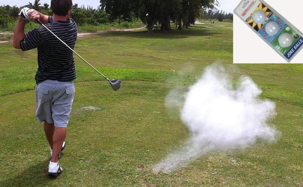 Golf Joke Ball Exploding Golf Ball Prank Funny Gag Trick Gift 3 Balls/Pack
