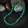 Female Jewelry Green Malachite Necklace Fashion Zinc Alloy Lobster Clasp Beaded Collane Donna Chokers Necklaces For Women
