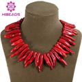 Wholesale High Quality Natural Gothic Red Coral Necklace Baroque Indian Coral Jewelry Free Shipping CN170