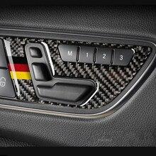 Auto In Fibra di carbonio Porta Bottoni di Regolazione del Sedile del Pannello di Copertura Trim 2 pcs Per Mercedes Benz GLA X156 CLA C117 UN classe B 2011-2018