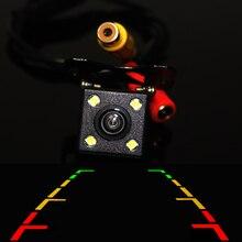Резервное копирование Парковка универсальный вид сзади автомобиля Камера HD CCD Водонепроницаемый 4 LED ночного видения широкий угол обзора parktronik Авто стиль