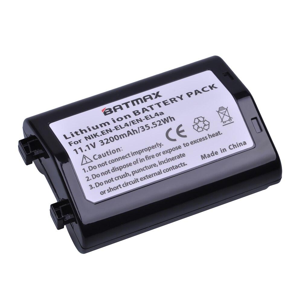 1 Pc 3200 mAh EN-EL4 EN EL4 EN-EL4a ENEL4a Caméra Batterie Batterie Akku pour Nikon D2H D2Hs D2X D2Xs D3 D3S F6 MH-21 Caméras