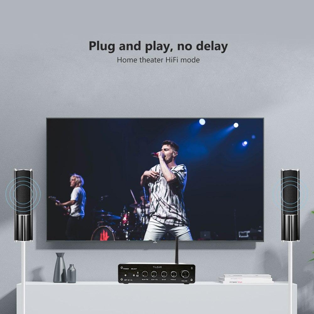 AIYIMA TPA3116 caisson de basses amplificateur Bluetooth HiFi TPA3116D2 2.1 canaux amplificateur Audio numérique 50 W * 2 + 100 W DC12-24V - 6
