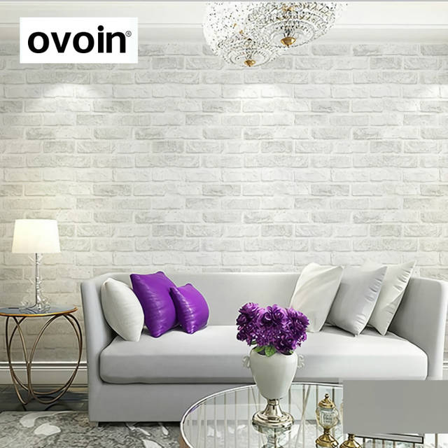 US $17.16 57% OFF|Vintage Rustic Grey White Brick Wallpaper Roll Bedroom  Dinning Living room Wall Covering Modern 3D Wall Paper Home Decor-in ...