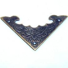 50pcs 40MM side length antique wooden bat stickers angle triangle Gift Bags angle iron decorative corner metal angle bracket(China (Mainland))