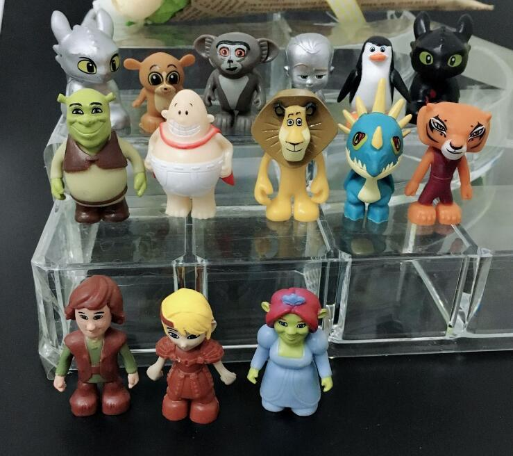 Mix 50PCS/<font><b>lote</b></font> Kids Animal toys, Cute cartoon human action <font><b>figures</b></font> anime toy birthday gift for children hobby collections image