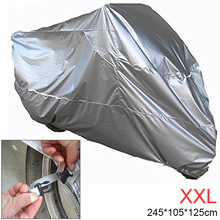 XXL 180T Universal Motorcycle Cover UV Protector Waterproof Rain Snow Ice Dustproof Anti-theft Motor Scooter for Motorbike