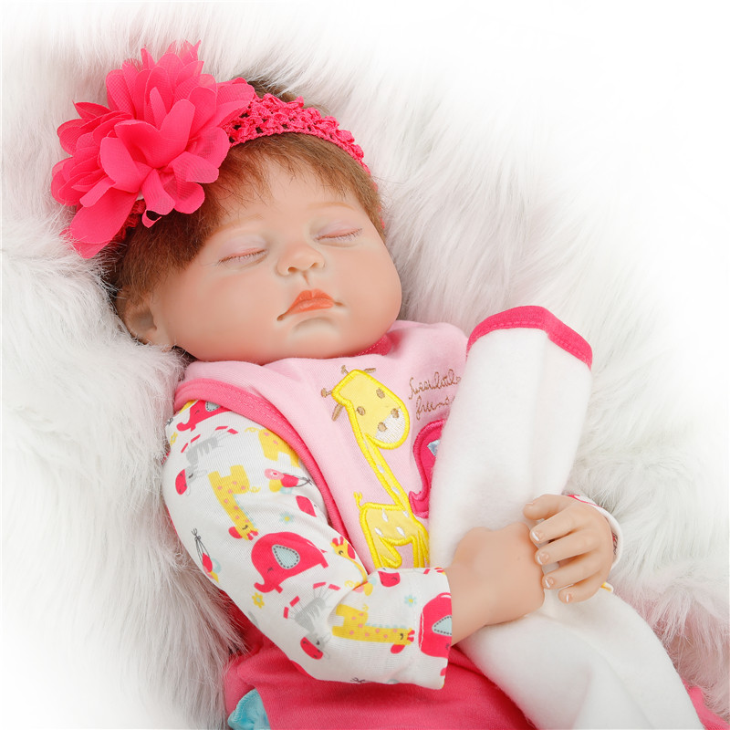 SanyDoll 22 inch 55cm  baby reborn Silicone dolls, Lovely suit sleeping doll holiday giftsSanyDoll 22 inch 55cm  baby reborn Silicone dolls, Lovely suit sleeping doll holiday gifts