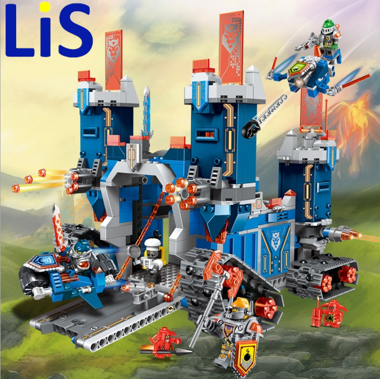 купить Lis 2017 New Model 1240 Pcs Nexus Knights The Fortrex Castle Building Block Clay Aaron Fox Axl Compatible Bricks Toy Children по цене 2556.96 рублей