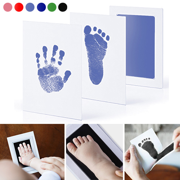Newborn Baby Handprint Footprint Inkless Non-toxic Ink Pad Infant Baby Souvenirs TB Sale