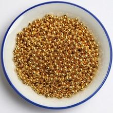 Pick 3 4 5 6 8 10 12 14mm bijoux en or perles d'imitation acrylique perles d'espacement pour la fabrication de bijoux Bracelet de collier à faire soi-même