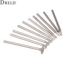 DRELD 10 adet Dremel aksesuarları 2.35mm Shank elmas monte nokta taşlama kafa taş yeşim oyma parlatma gravür araçları