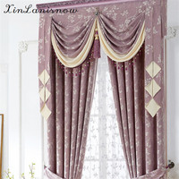 Pure And Fresh And Rural Modern Korean Imitation Linen Jacquard Window Curtains For Living Dining Room