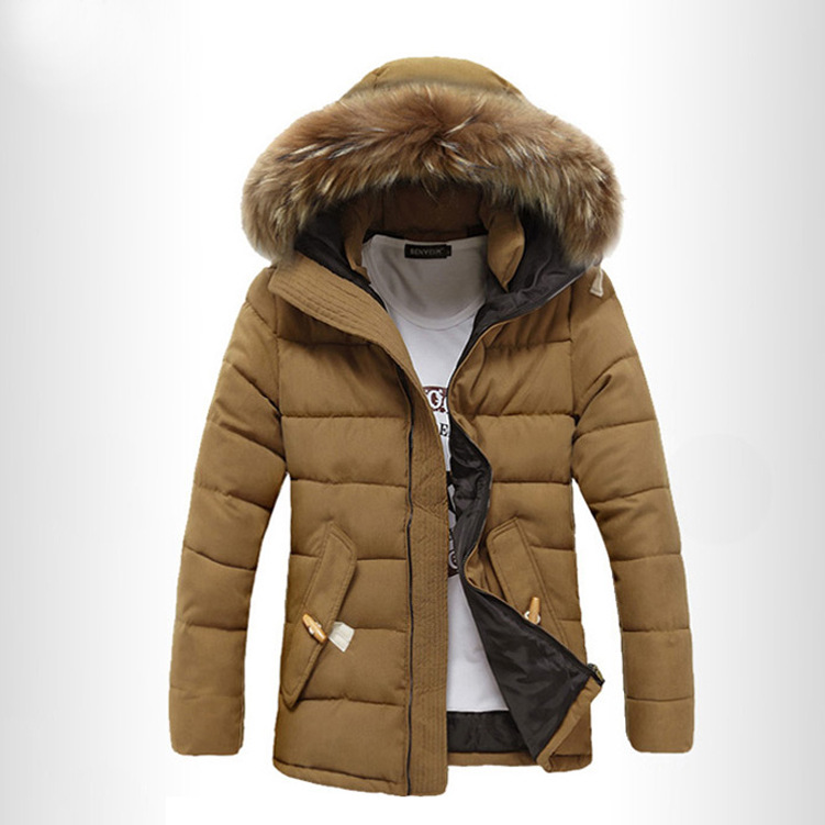 2017 High-quality Men Jackets Fashion Men Winter Thick Warm Jackets Parkas Casual Slim Fitness Long Men's Down Plus Size 3XL