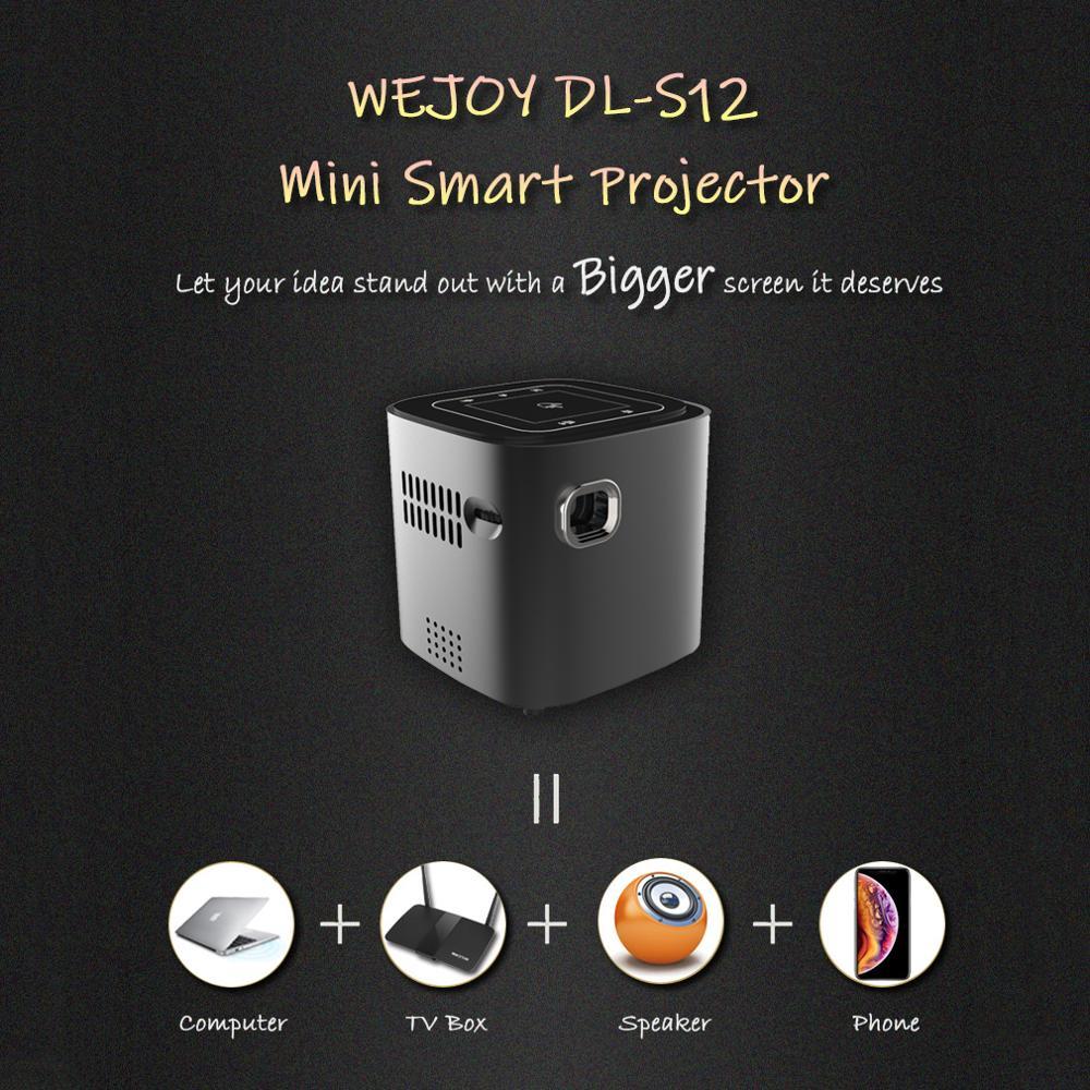 Wejoy Android DL-S12 Mini LED projecteur tactile DLP projecteur présentation données montrer Portable projecteur celulaire Full HD - 4
