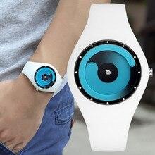 CRRJU модные часы Простой повседневное спортивные часы классический силиконовый ремешок унисекс высокое качество кварцевые наручные ч