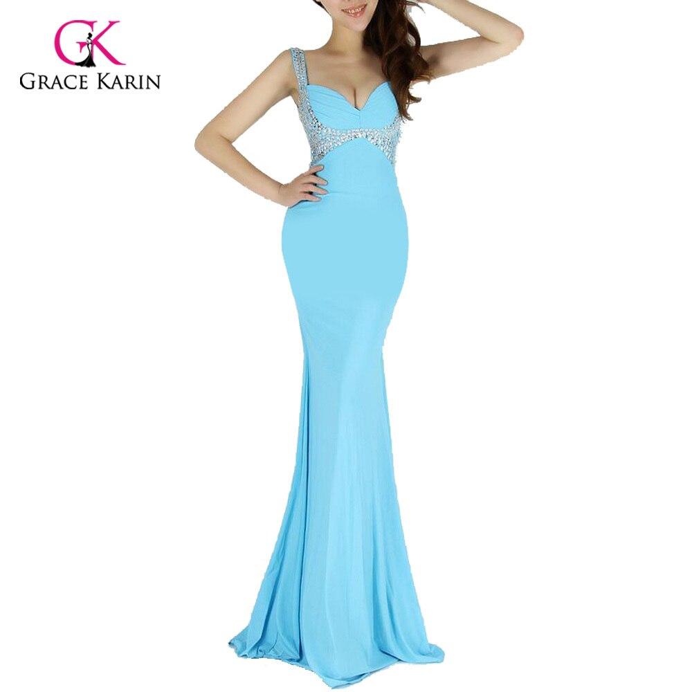 Fashion Long Mermaid Prom Dress 2018 Grace Karin Women Backless ...
