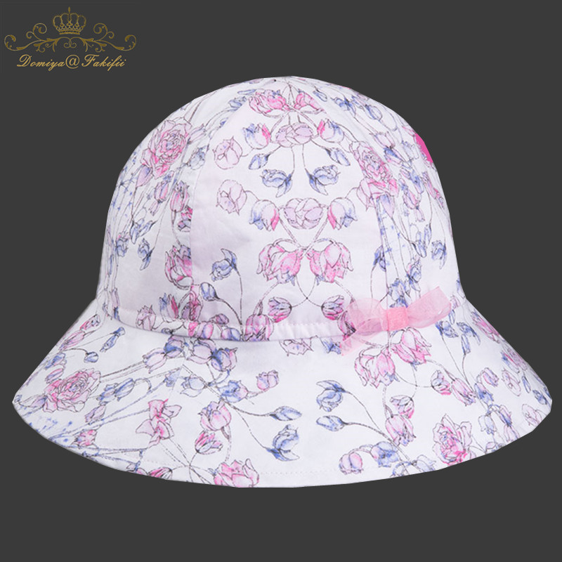 2018 New Brand Summer Baby Girl Hat Baby Sun Hat Summer Flower Caps Cotton Bucket Caps Child Sun Cap Kids Girls Brim Beach Hats longkeeper mens snapback caps for men women quick dry sun hats bone gorras beisbol chapeu 2017 new casquette gu 14