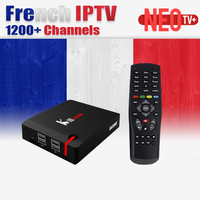 Francese IPTV di Android tv box Belgio Arabo NEO TV IPTV KIII PRO DVB S2 sintonizzatore dvb t2 tv box amlogic s912 16 GB Smart IP TV BOX