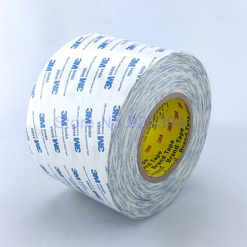 50meter/roll 3M 9448A White Double Sided Tissue Tape