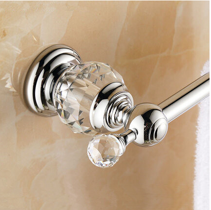 ФОТО 62cm high quality bathroom accessory,brass and crystal chrome single Towel bar,Towel rail, Towel holder,towel rack