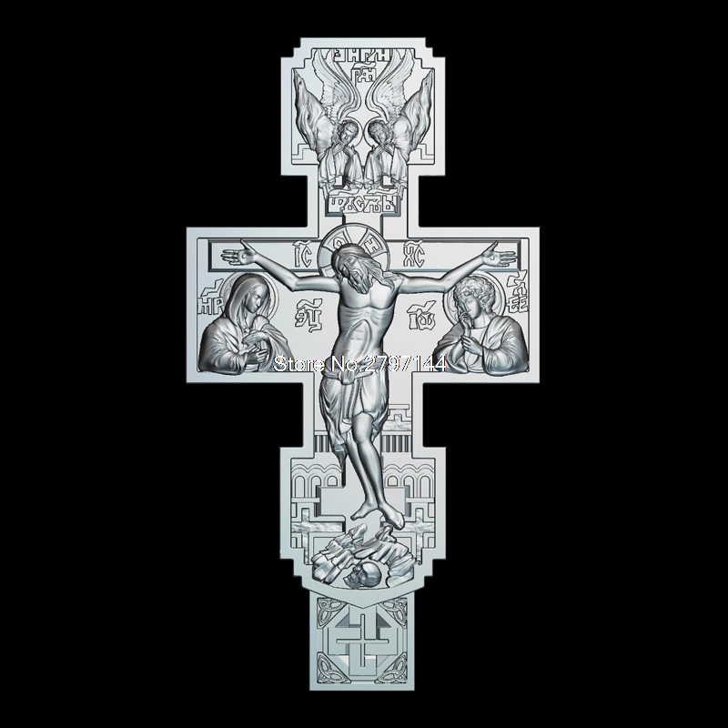 High Quality New 3D Model For Cnc Crucifixion Of Jesus Christ 3D Carved Figure Sculpture Machine In STL File Religion