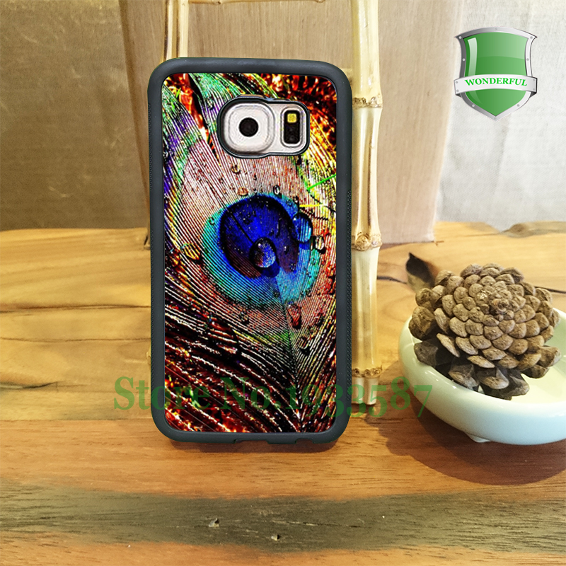 Peacock Feather Gift Idea Mobile Phone Cases For Samsung S7 S7 edge S6 S6 edge plus S5 S4 S3 Note5 Note4 Note3 U*0210