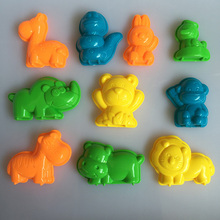 10 PCS Animals Sand Clay Tool Beach Toys Novelty Pyramid Mold Building Model For Kids Children Baby Out Fun on Holiday N13