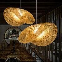 현대 led e27 동남 아시아 대나무 handwork led 펜 던 트 조명 크리 에이 티브 hanglamp 펜 던 트 조명 식사 룸 바 저장소