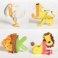 26PCS/Lot 26 Letters Aminal Design 3D DIY Educational Early Learning ABC Baby Toys Paper Puzzle For Children VB915 P20 0.5