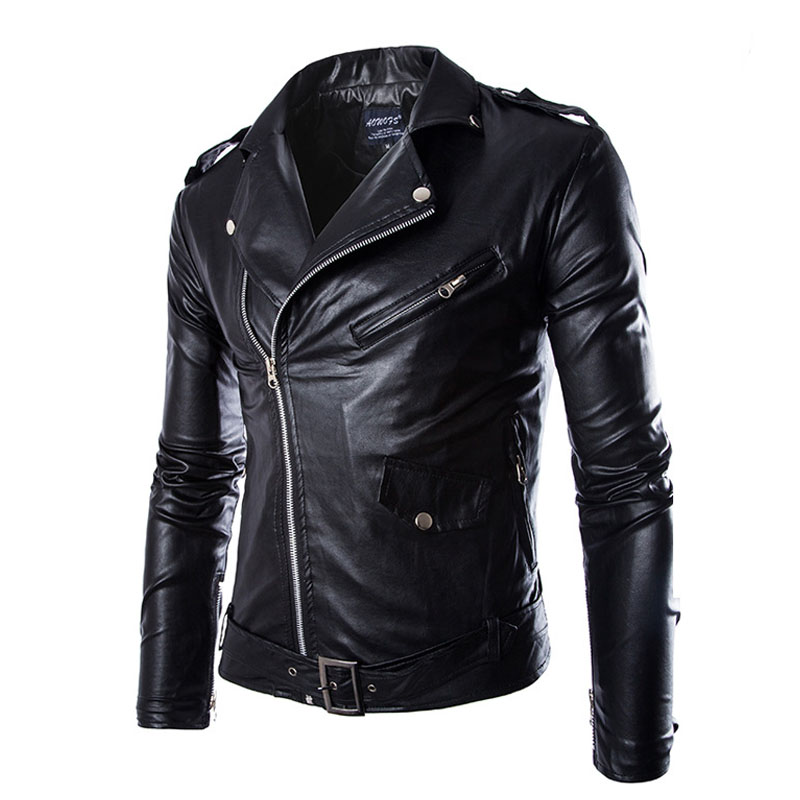 Aliexpress.com : Buy Brand Black Pu Leather Jacket Men 2016 New ...