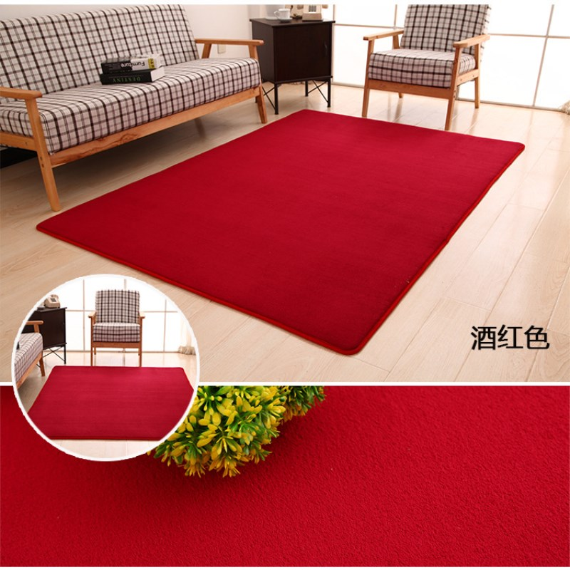 Solid Color 40cm * 60cm Lounge Area Coral Velvet Soft Thicken Memory Cotton Carpet Non-slip Mats Bedroom Living Room Rugs