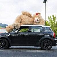 200 см 78''inch гигантские Чучела Плюшевый Мишка мягкий большой огромный коричневый Мягкие плюшевые детская кукла девочка llf подарок на Новый го