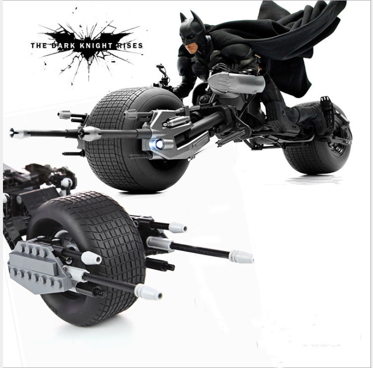 7115 DC Super Heroes The Dark Knight Batman Batcycle Batmobile Bricks Batpod Building Blocks Toys Compatiable Lepin 5004590 dc comics машинка batcycle
