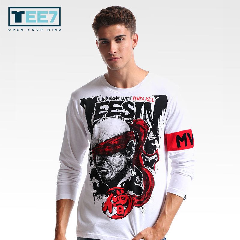 Sin Lol Lee Juego Mvp Camiseta Moda Algodón Ciego Monje Tee7 El qO5tHn5