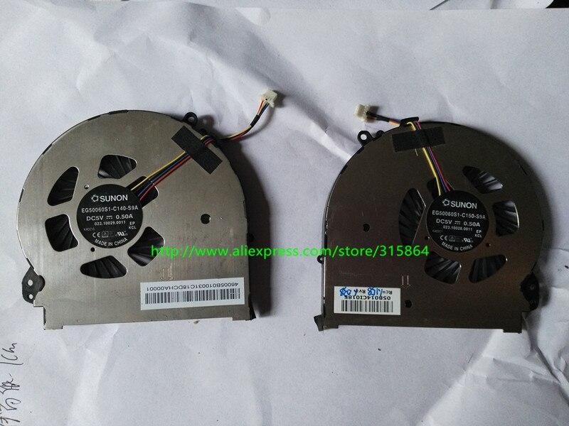 2pcs   New laptop cpu fan for HP OMEN ENVY15 Q001TX 15-5114TX 5113TX EG50060S1-C140-S9A/EG50060S1-C150-S9A laptop palmrest for hp envy 15 j00 silver 720570 001 6070b0664001