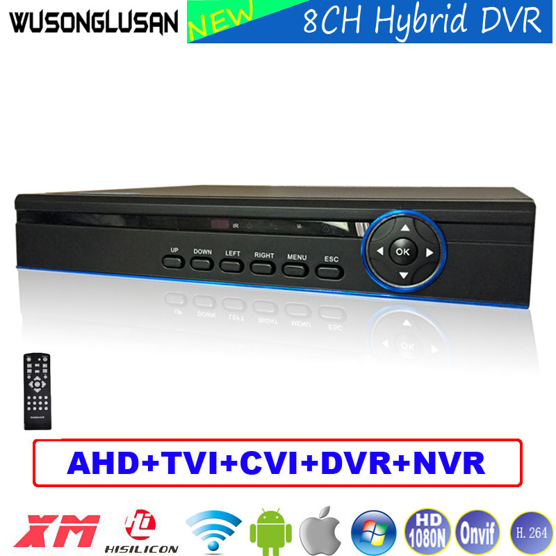 New 8CH AHD DVR XMeye Digital Video Recorder Hybrid 1080N/960P/720P/960H 5-in-1 NVR TVI CVI DVR P2P Onvif for Security IP Camera smar hybrid 5 in 1 dvr 8ch 1080n ahd dvr home security h 264 video recorder onvif xmeye p2p network cctv dvr system